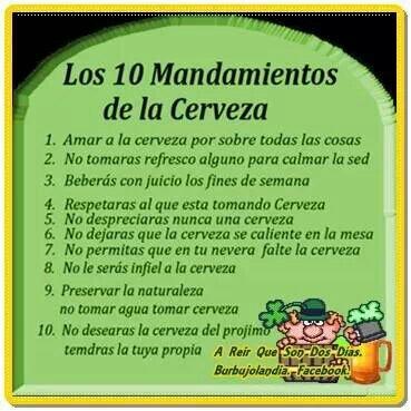 Los 10 mandamientos de las chelas el sitio de lameiro - Los 10 locos mandamientos ...